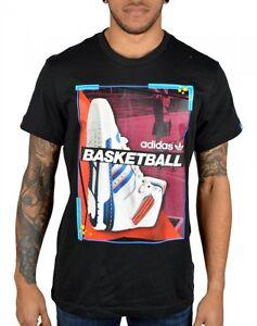 Adidas originals catalogue t shirt basketball shoe black XS S M