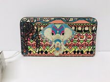 NWT!! sakroots Slim Wallet Aqua Ow Embellished Embroidered