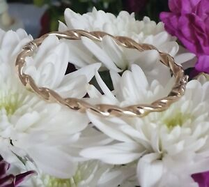 9ct Gold Bangle Twisted Design Bracelet Gold Carat 9k