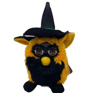 Vintage Furby Halloween Witch Orange with Hat Not Working 1999