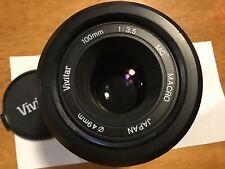 Vivitar 100 mm f 3.8 Macro C/FD Camera Lens for Canon