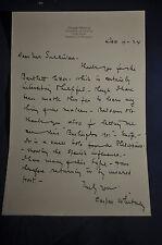 1924 *SIGNED* Caspar Whitney Irvington on Hudson, NY Letterhead