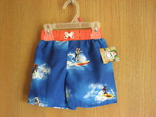 NWT Toddler Boy OP SURFING DOGS Swim Trunk Shorts UPF 50+ Size 18 Months