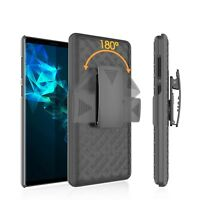 Samsung Galaxy Note 9 Case Rubberized Holster Shell Combo Kickstand Cover Black