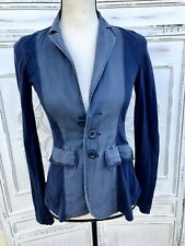 FREE PEOPLE Size 0 XS Navy Blue Fitted Cardigan Sweater Top Light Jacket Blazer