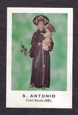 Santino Holy Card S.Antonio - Furci Siculo