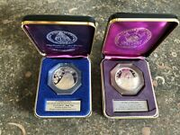 Lot (2) Catholic Art Guild St.Therese/Prince of Peace .925 Silver Proof Medal