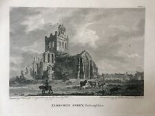 1797 Antique Print; Jedburgh Abbey, Borders, Scotland after Moore