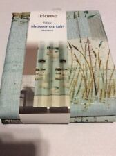 "Design Home Lake Retreat Fabric Shower Curtain 70 ""X 72"" Lodge Fishing Lake Nip"