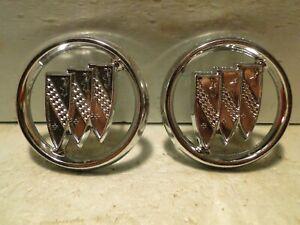 NOS Buick Wildcat Electra Lesabre Riviera Regal Pillar Fender Tri Shield Emblems