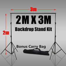 Adjustable 2x3m Background Support Stand Pro Photo Backdrop Crossbar Kit Studio