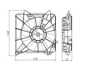 A/C Condenser Fan Assembly TYC 611310