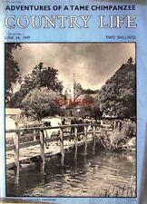 1949 'Milking Time LONGPARISH, HAMPSHIRE - Country Life Cover Photo Print