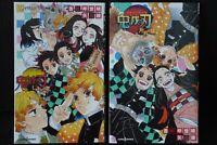 JAPAN novel LOT: Demon Slayer: Kimetsu no Yaiba vol.1+2 Set