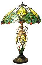 Double Tiffany Lamp Electric Light Green Yellow Home Lighting Decor New 68cm