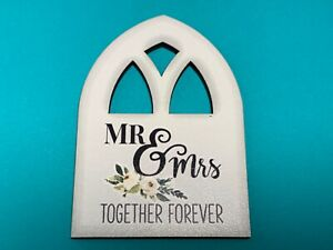 """🌸 Wedding Wooden Window  """"Mr & Mrs"""" Together Forever Magnetic  (W4) NWT 🌸"""