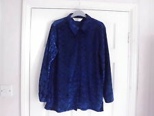 Vintage Dorothy Perkins blouse (made in UK) size 12 in royal blue