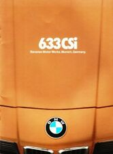 1978 78 BMW 633i 633 i original sales  Brochure