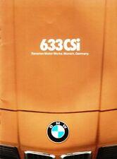 1978 78 BMW 633i 633 i original sales  Brochure