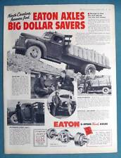 Original 1958 Eaton Axle Photo Ad Features M H Jones of Raleigh NC 10 by 13