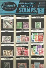 The Errimar Collection Guaranteed Genuine Stamps Advertising Card With 48 Packs