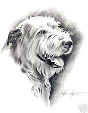 IRISH WOLFHOUND Pencil Drawing 8 x 10 ART DOG Print Signed DJR