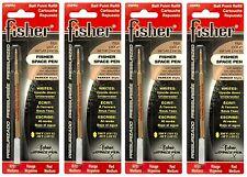 FOUR (4) Fisher Space Pen SPR Series Red Ink / Medium Point Refills #SPR2