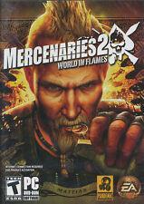 MERCENARIES 2 WORLD IN FLAMES Action PC Game Vista NEW