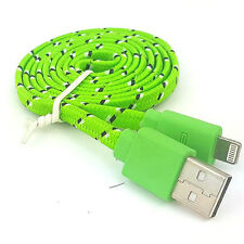 Noodle Rope Braided Cable Charger 3 ft Data Cord iPhone 6 6S Plus 5 5S 5C