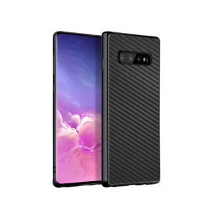 Samsung Galaxy S10 S10+ Plus CARBON CASE Hülle Backcover Design Tasche