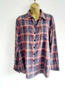 Ladies FatFace Size 14 Brushed Cotton Check Shirt