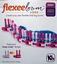 New! Knitting Board Flexee Loom Links Skinny For Thinner Yarn