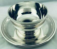 PUIFORCAT saucière Sauce Boat silverplate dish tray ART DECO