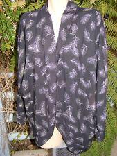 Crossroads Black Kimono Style Draped Jacket Size M. 14 -16
