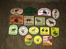 Ontario MNR Successful Moose Hunter Patches Crest Badge 2001-2016 16 Pc Complete