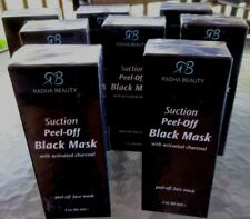 1 Radha Beauty SUCTION PEEL OFF BLACK MASK ACTIVATED CHARCOAL