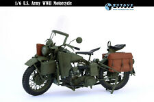1/6 scale Soldier Diecast/Plastic WWII US Army Harley Davidson Motorcycle