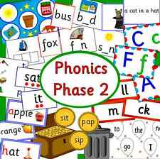 Phonics Phase 2 resources on CD- Letters and Sounds, EYFS, KS1, Literacy