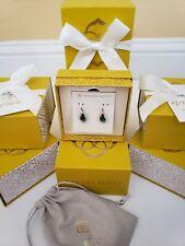 Kendra Scott Juniper Drop Earrings in Gold Emerald Glass Free Gift Box NWT