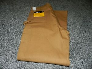 NEW with TAGS CARHARTT FIRM DUCK DOUBLE FRONT FLANNEL LINED WORK PANTS 42 x 34