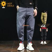 New Men`s 100% Cotton Outdoor Loose Casual Pants Baggy Harem Jogger Pants 28-42