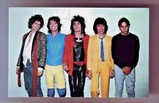 The ROLLING STONES Great Band Photo NOS Post Card Mint 1980s Coral-Lee SC18556