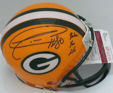 """Packers DONALD DRIVER #80 Signed Mini Helmet AUTO w/ """"Packer for Life"""" - JSA"""