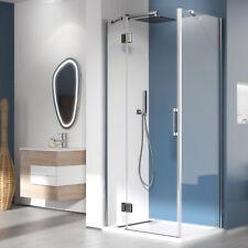 Box doccia 90x100 rettangolare parete fissa con anta battente anticalcare novità