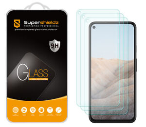 [3-Pack] Supershieldz Tempered Glass Screen Protector for Google Pixel 5a 5G
