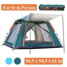 Portable 5-6 Person Camping Tent 3 Layer Waterproof Windproof 60s Set Up