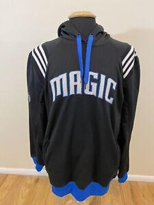 Adidas Orlando Magic Sweatshirt Men's Large Blue Black Hoodie NBA Basketball