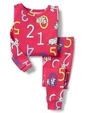 GAP Baby / Toddler Girls Size 4 Years / 4T Pink Count Sheep Pajamas PJ Sleep Set