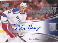 15-16 Upper Deck Contours Kevin Hayes /399 Auto Youth Movement NY Rangers 2015