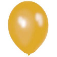 10x Liso Metálico Oro Globos de Látex para Fiesta Llenar con Helio o Aire